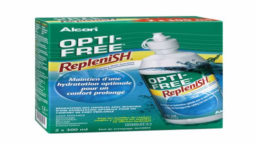 Alcon - Opti-Free Replenish Bi-Pack co-brandé 2x300ml